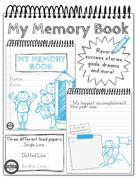 My Memory Book Handwriting Drawing