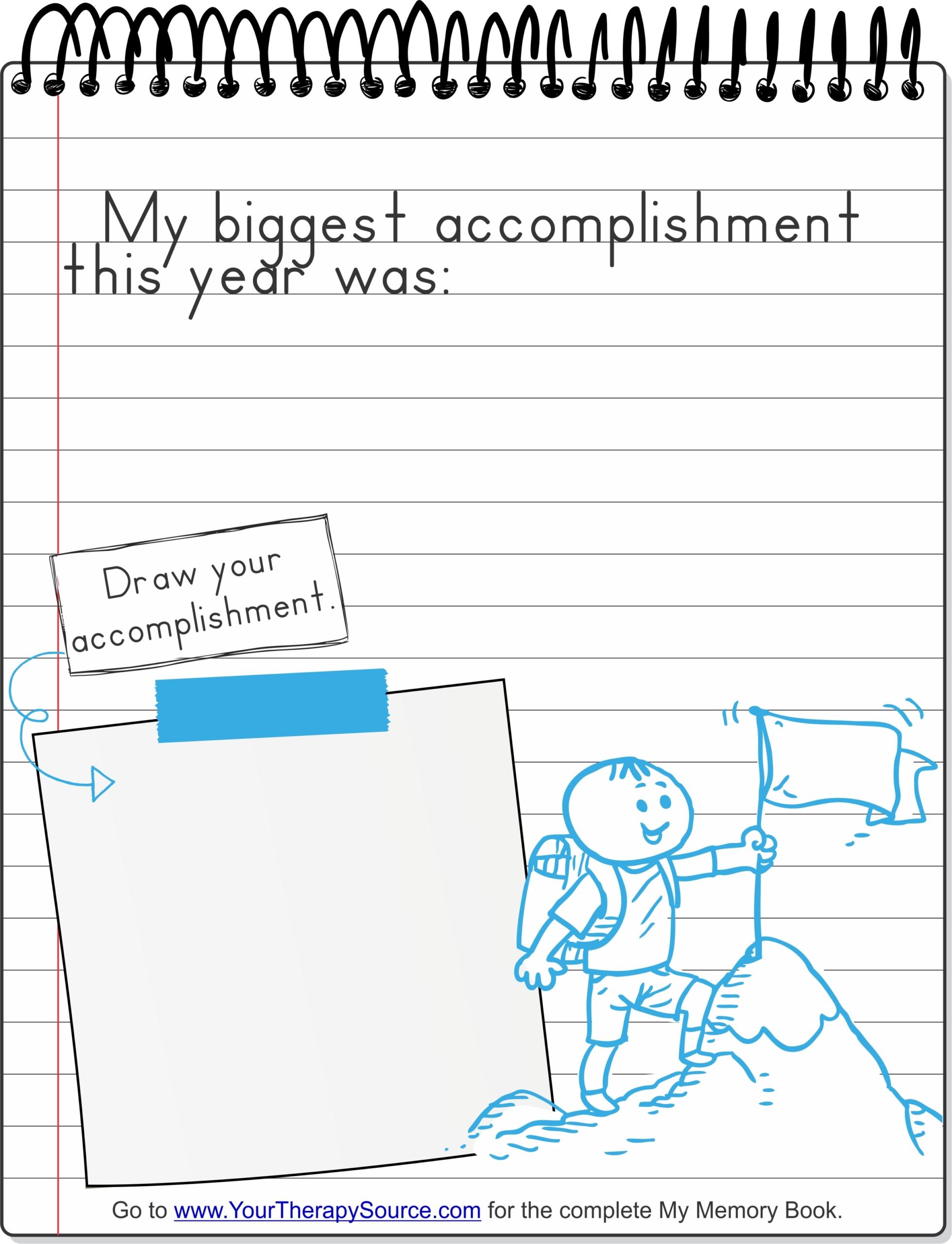 Accomplishment Handwriting Drawing