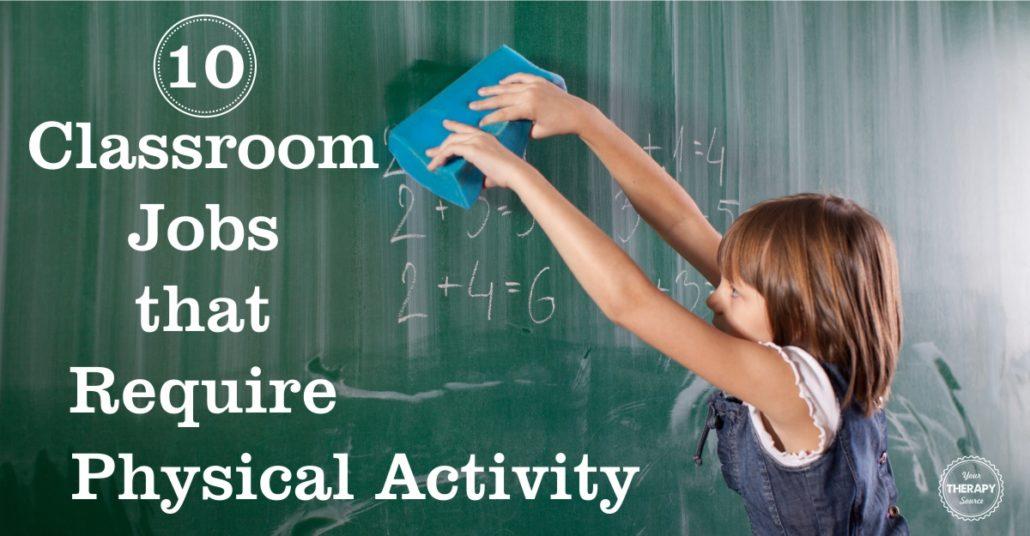 Classroom Jobs Physical Activity