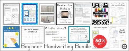 Beginner Handwriting Collection 50% off