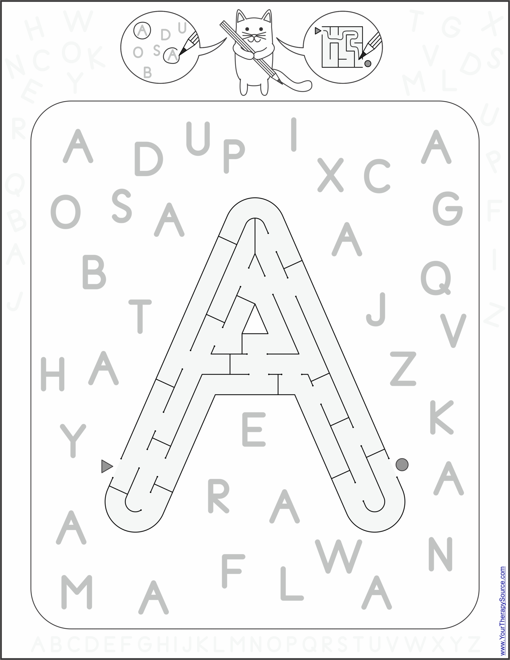 Find and Follow Letter A