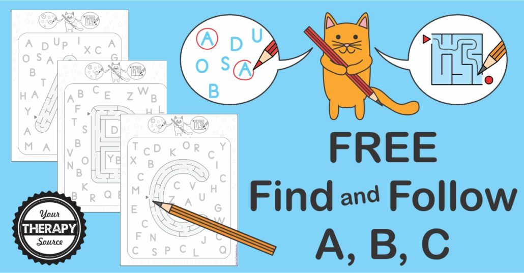 Free Find and Follow ABCs