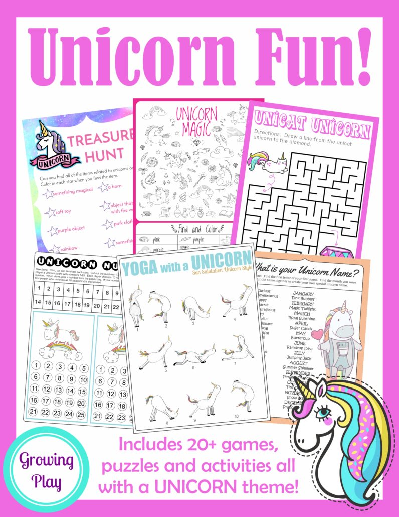 Unicorn Find And Color Visual Perceptual Skills Your