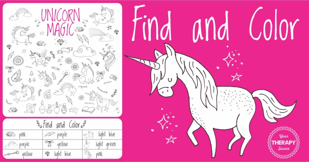 Unicorn Find and Color