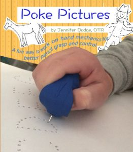 Poke Pictures - work on hand mechanics for pencil grasp and control