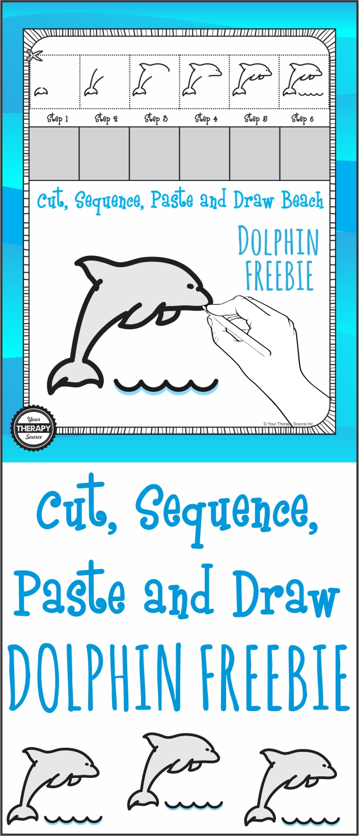 Cut Sequence Paste Draw Dolphin Your Therapy Source