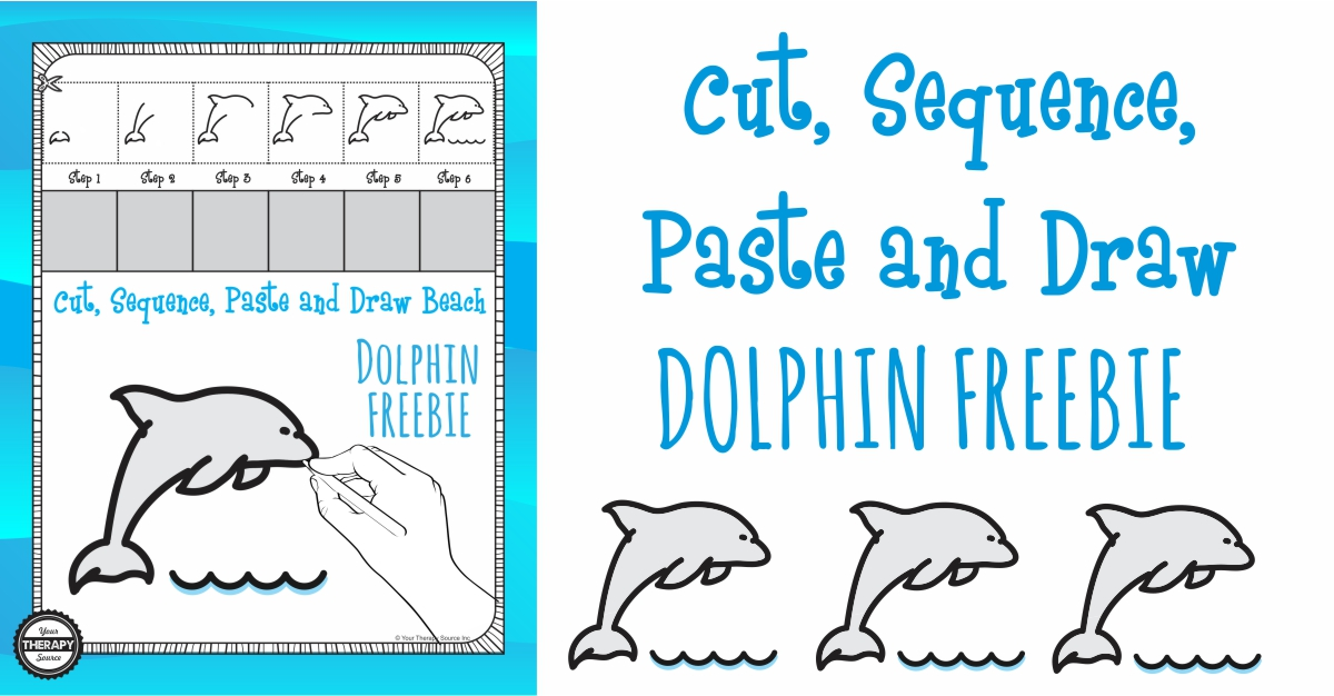 cut sequence paste draw dolphin