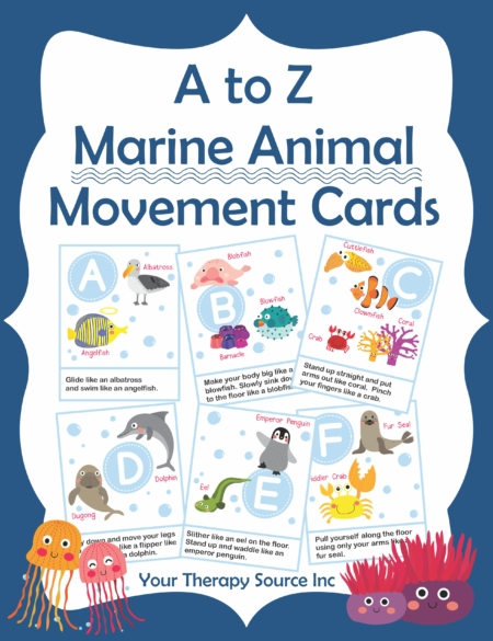 Marine Animal Movement Cards