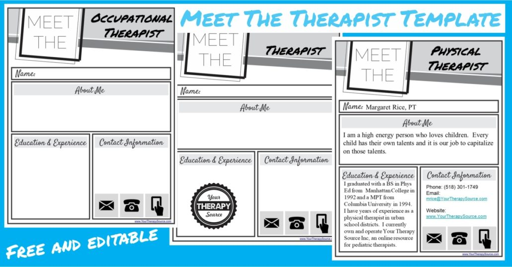 Meet the Therapist Letter