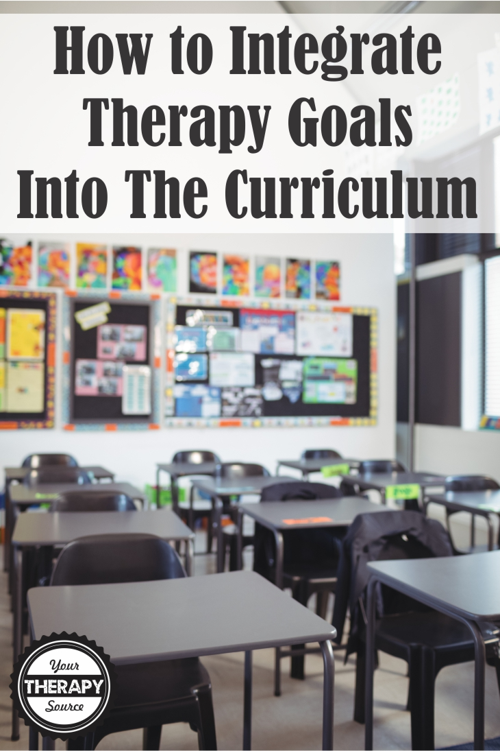 Integrate Therapy Goals Curriculum