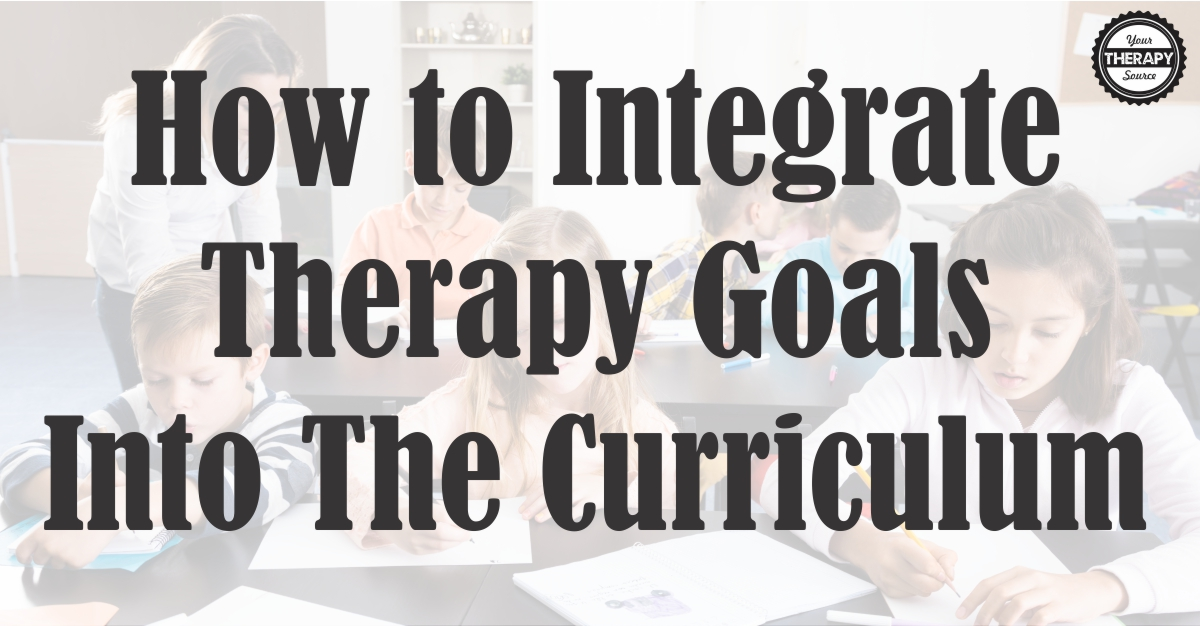 Therapy Goals Curriculum