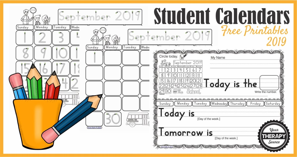 These FREE morning meeting calendar work printables, created by a school-based OT, provide differentiated instruction for students to participate during calendar time and morning work.