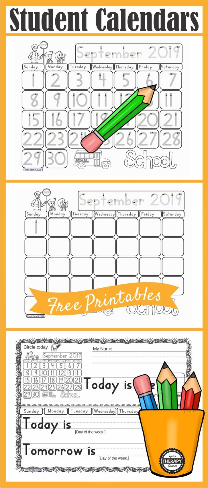 These FREE morning meeting calendar work printables, created by school-based Occupational Therapist Thia Triggs, provide differentiated instruction for students to participate during calendar time and morning work. This freebie is great for individual, group and contextually based therapy sessions. Reinforce your student's IEP math and ELA goals while focusing on your own therapeutic objectives.
