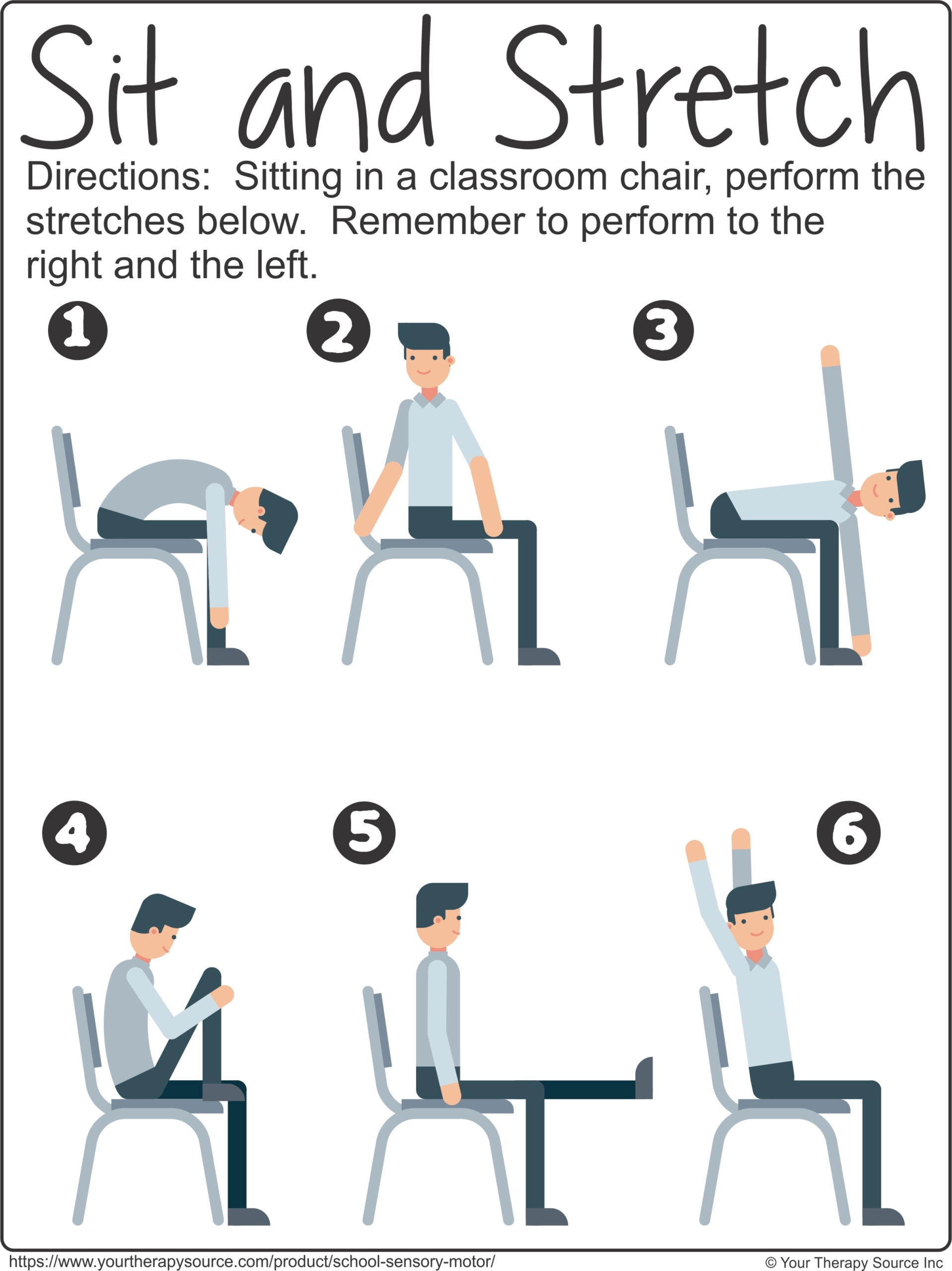 Sit and Stretch from School Sensory Motor Packet