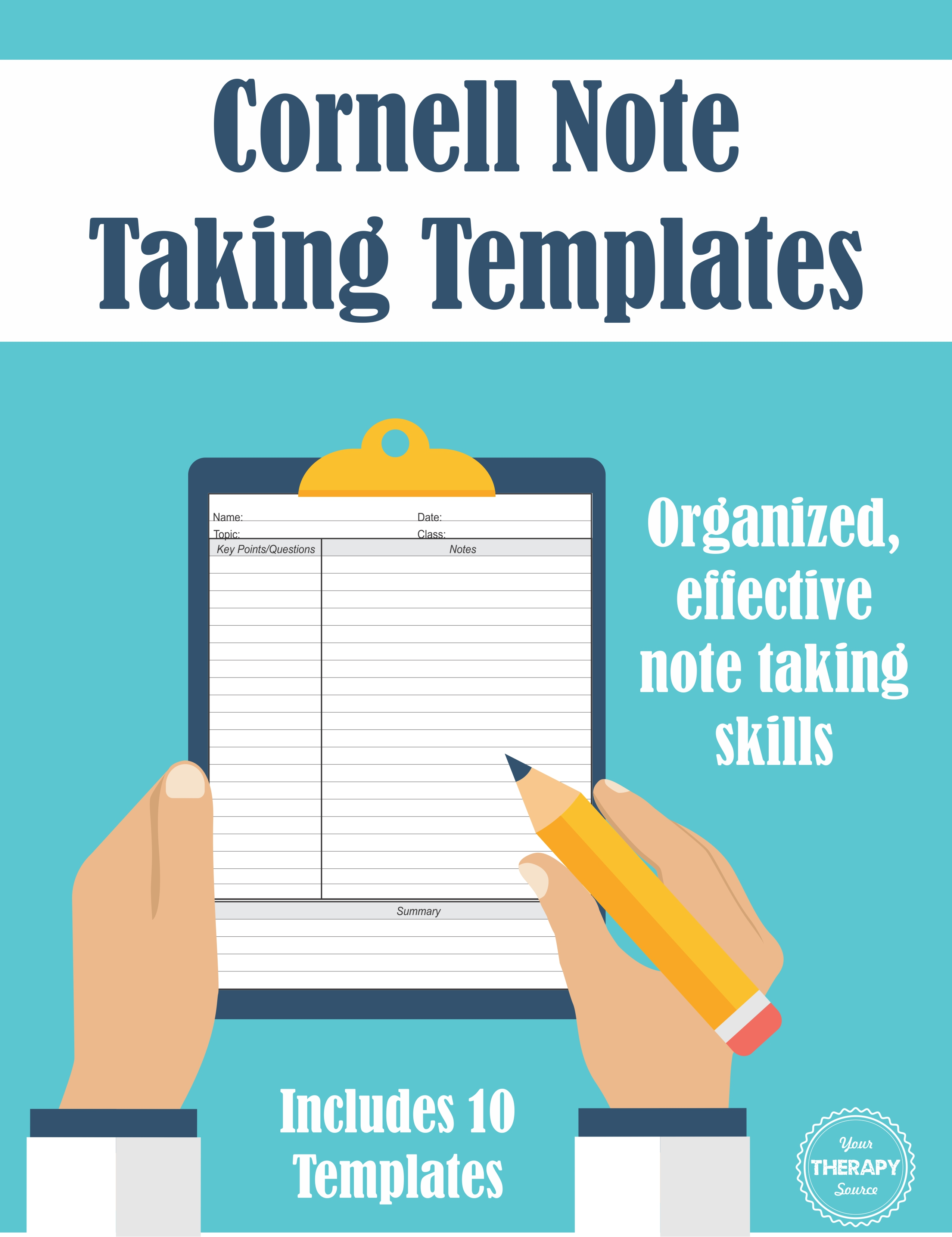 Cornell Note Taking Templates