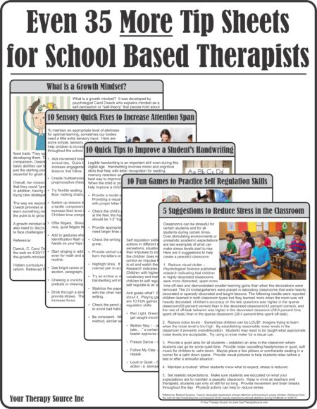 Even 35 More Tip Sheets for School Based Therapists