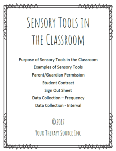 Sensory Tools in the Classroom
