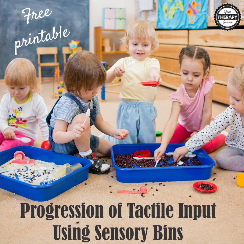 Progression of Tactile Input Using Sensory Bins
