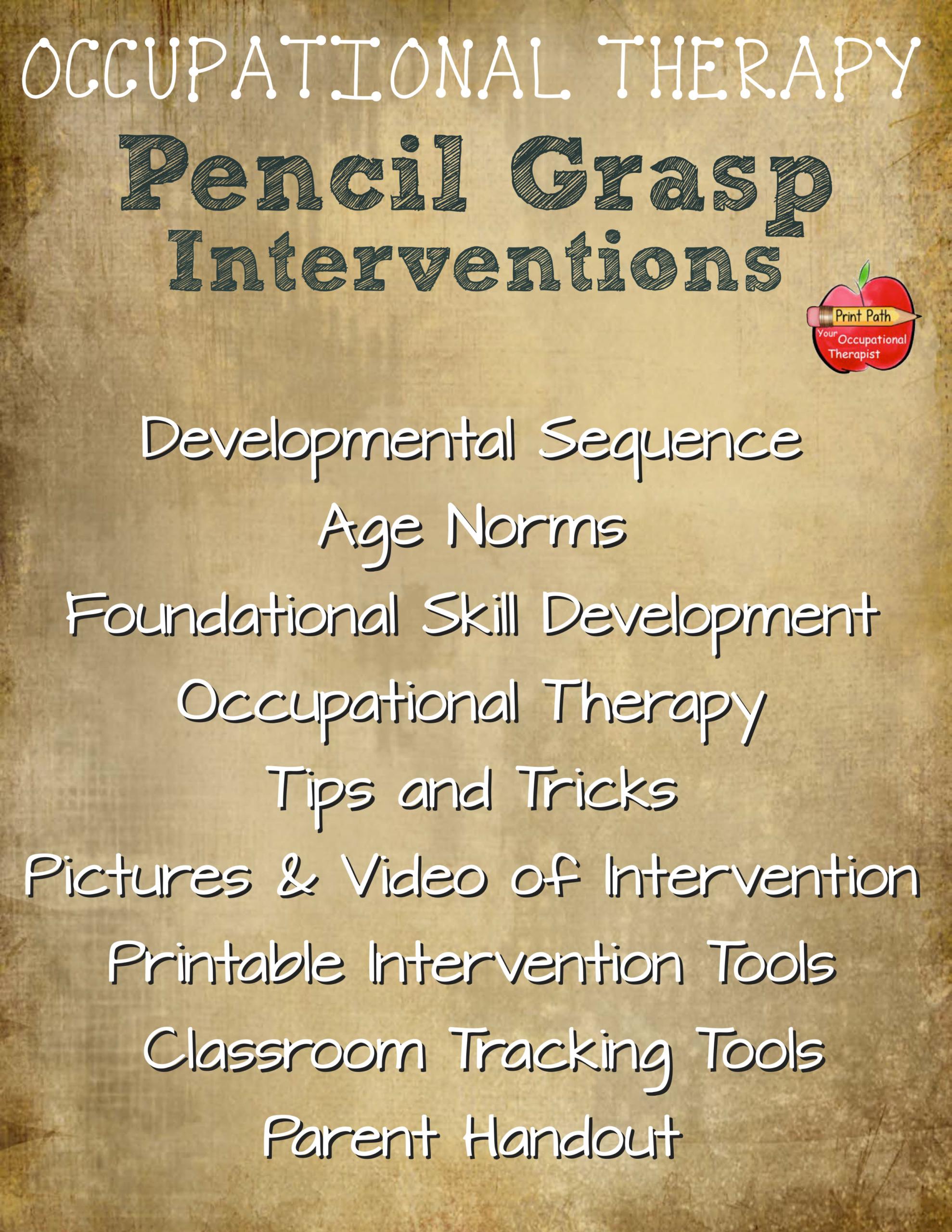 Pencil Grasp Intervention