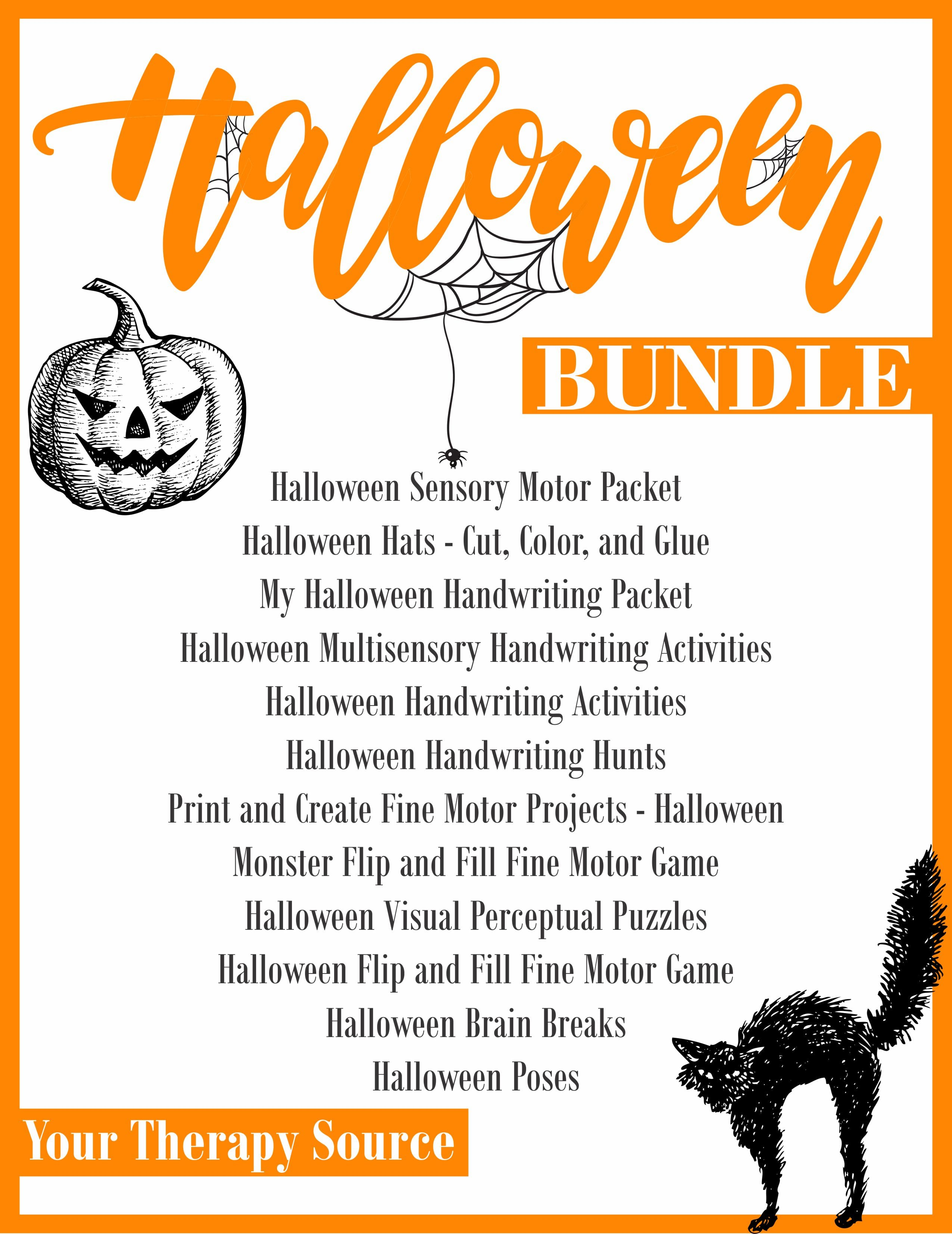 - Halloween Worksheets And Activities Bundle - Your Therapy Source