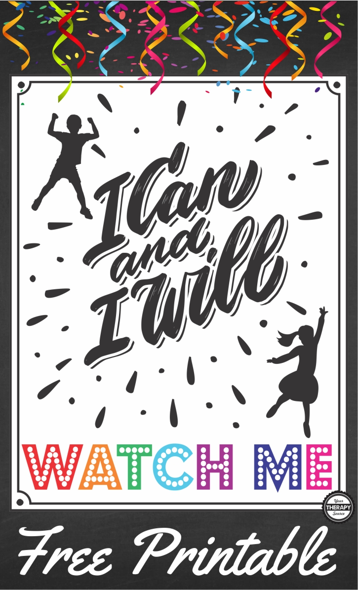 I Can and I Will Watch Me Poster Freebie