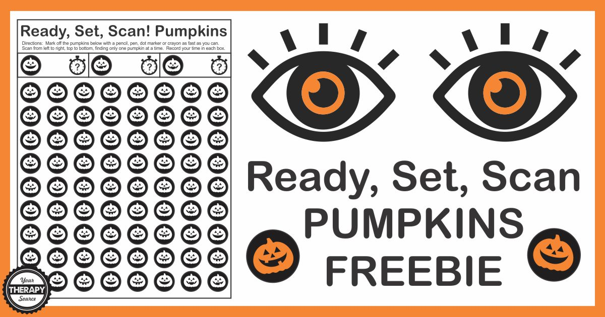 Pumpkin Visual Discrimination and Scanning Activity