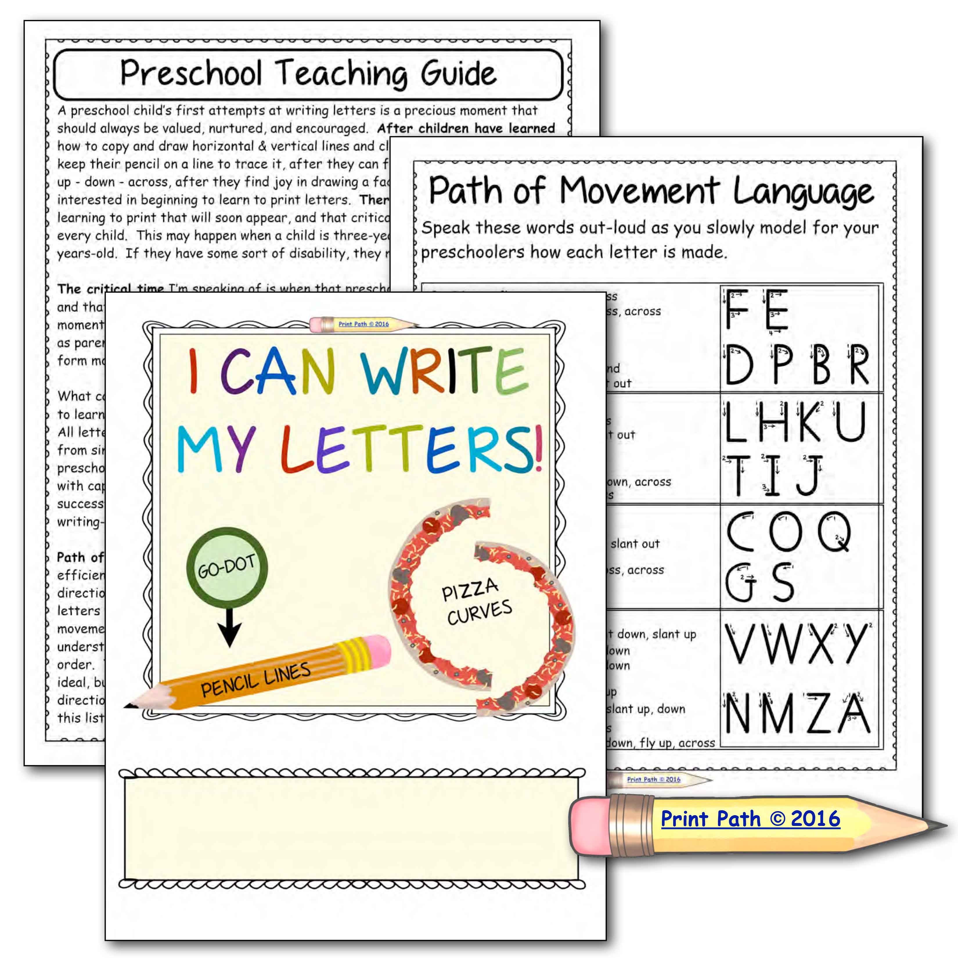 Preschool Handwriting Supported Writing of Capital Letters