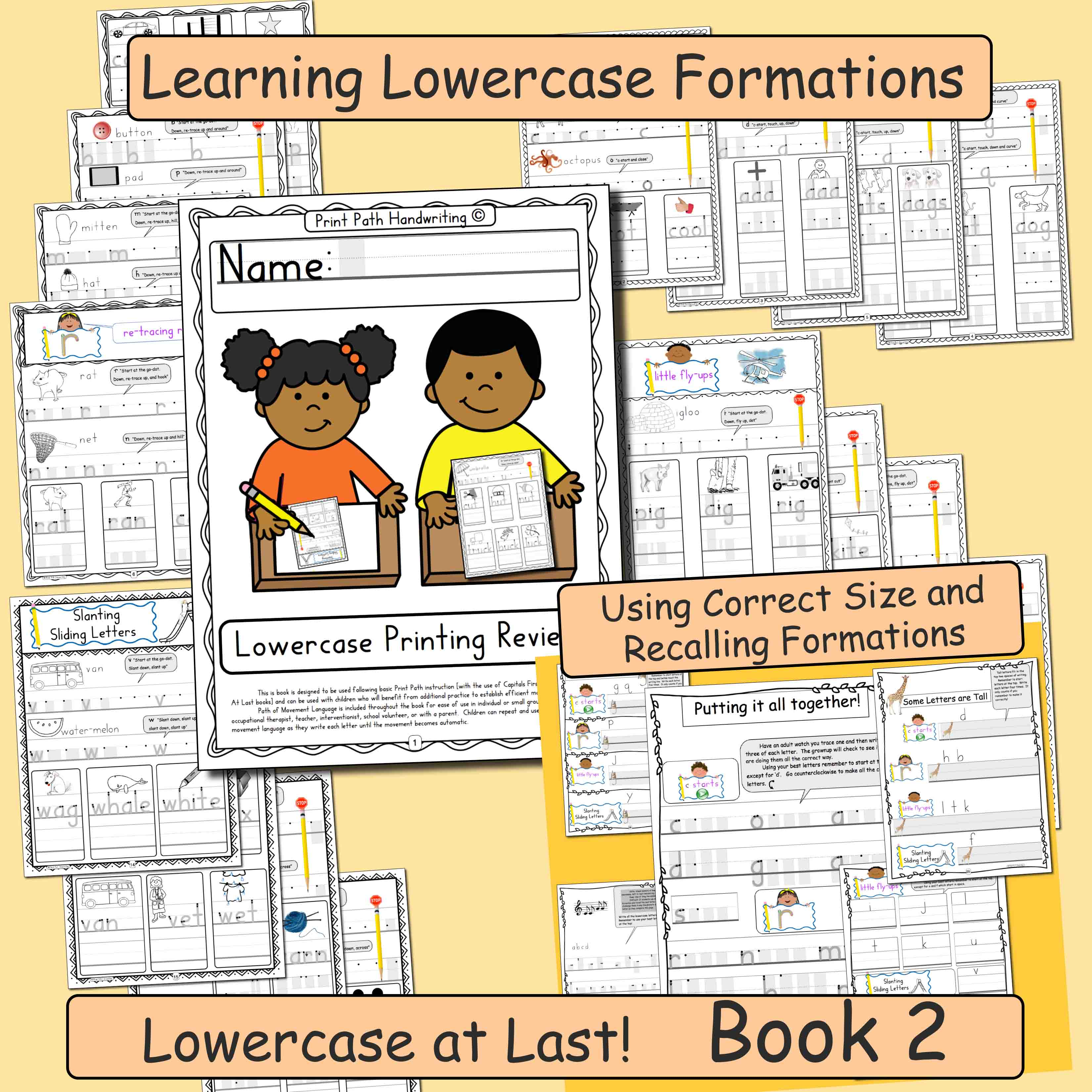 Lowercase at Last Books 2 and 3 Lowercase Intervention
