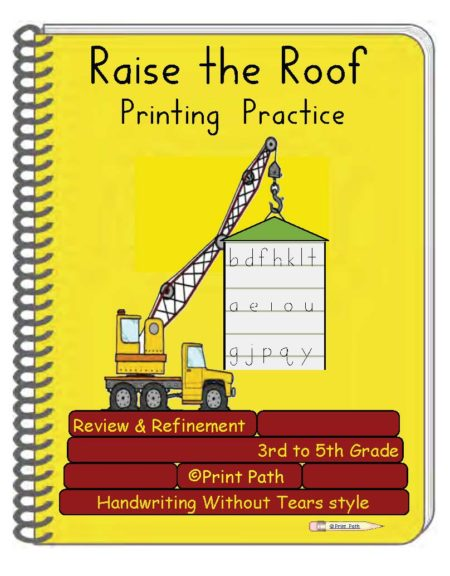 Raise the Roof 3rd Through 5th Grade Handwriting
