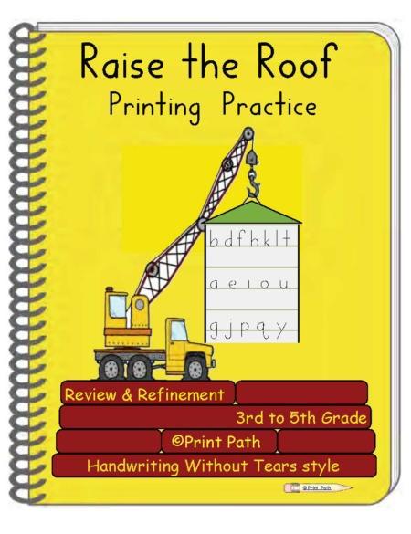 Raise the Roof 3rd Through 5th Grade Handwriting