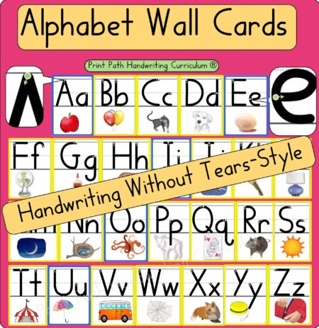 Alphabet Wall Cards Handwriting