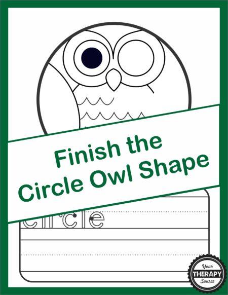 Finish the Circle Shape Owl