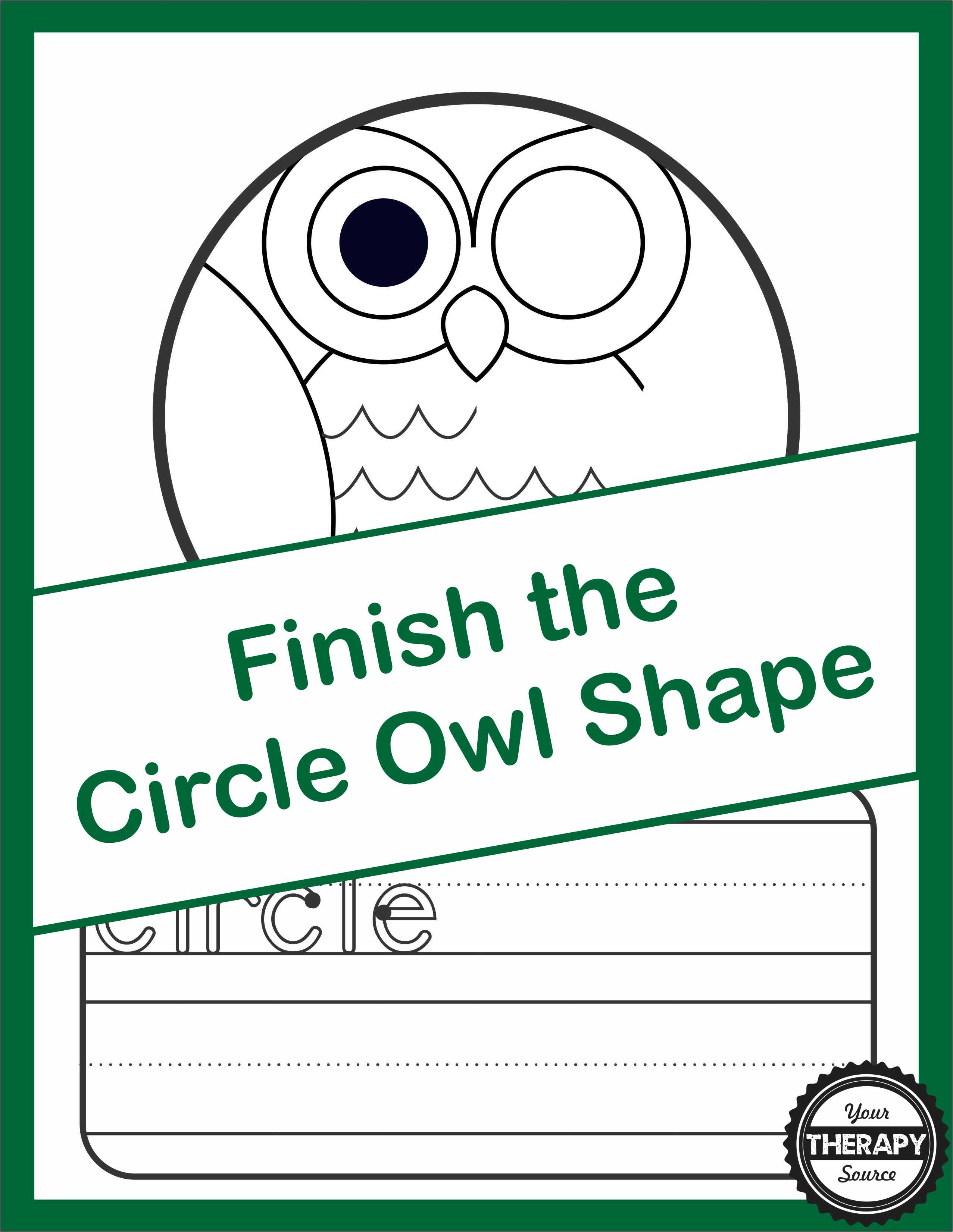 Finish the Circle Shape Owl