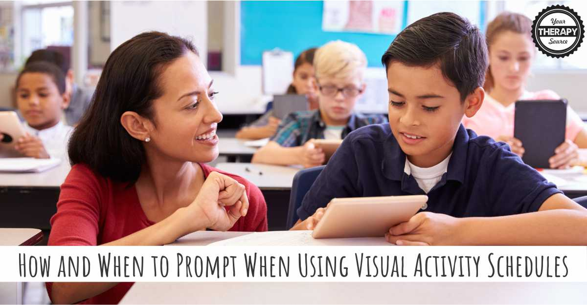 How and When to Prompt When Using Visual Activity Schedules