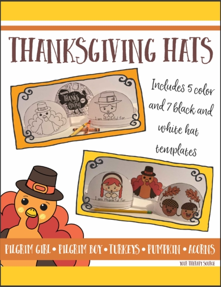 Thanksgiving Hats from Your Therapy Source