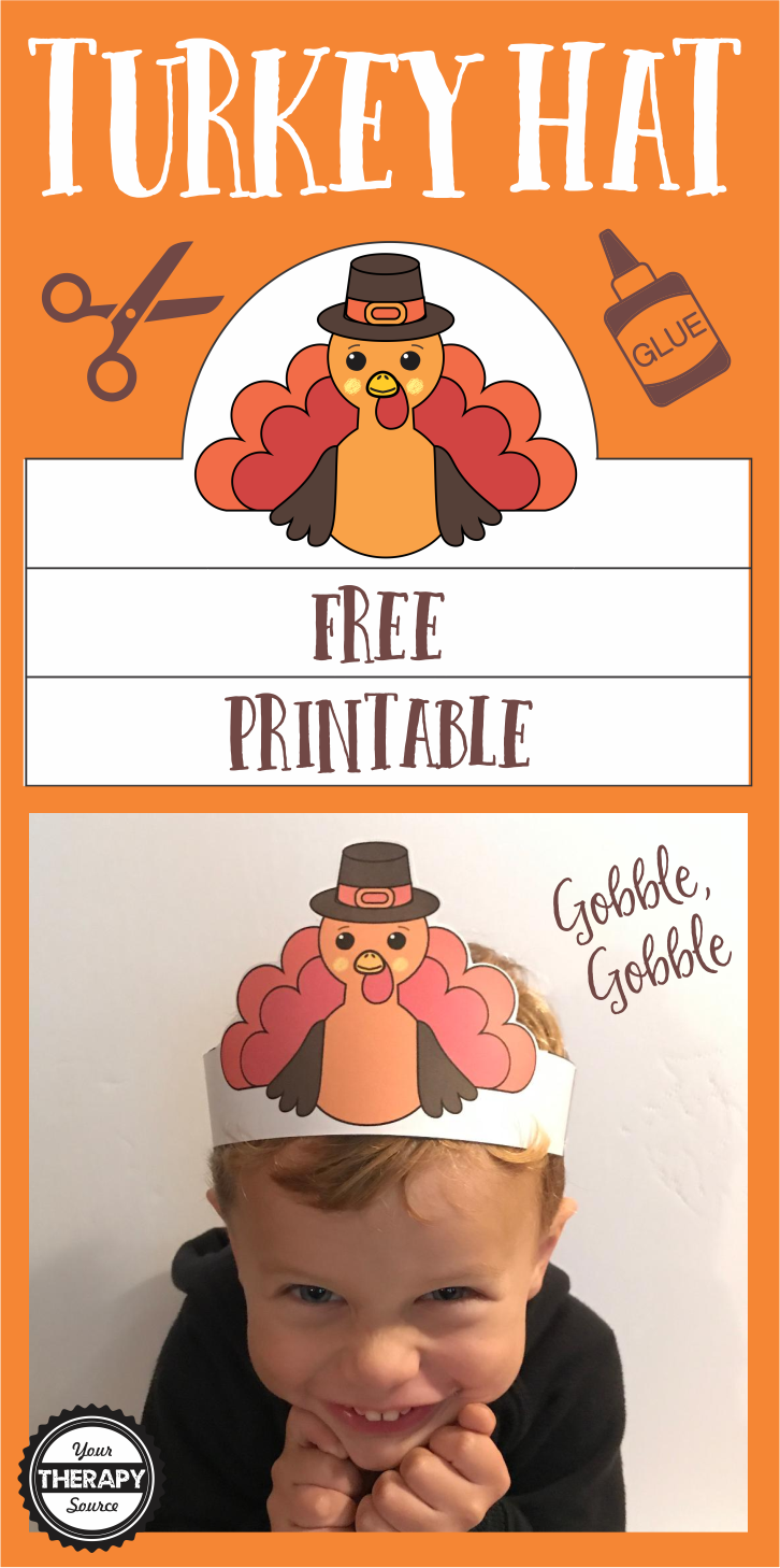 Free Turkey Hat from Your Therapy Source