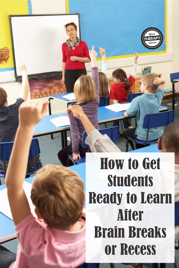 How to Get Students Ready to Learn After Brain Breaks or Recess