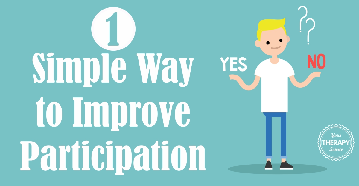 One Simple Way to Improve Participation