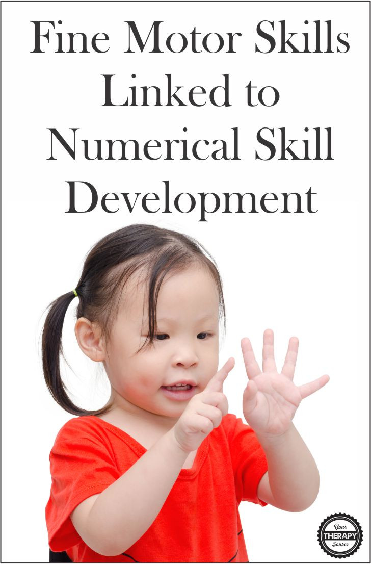 Fine Motor Skills Linked to Numerical Skill Development