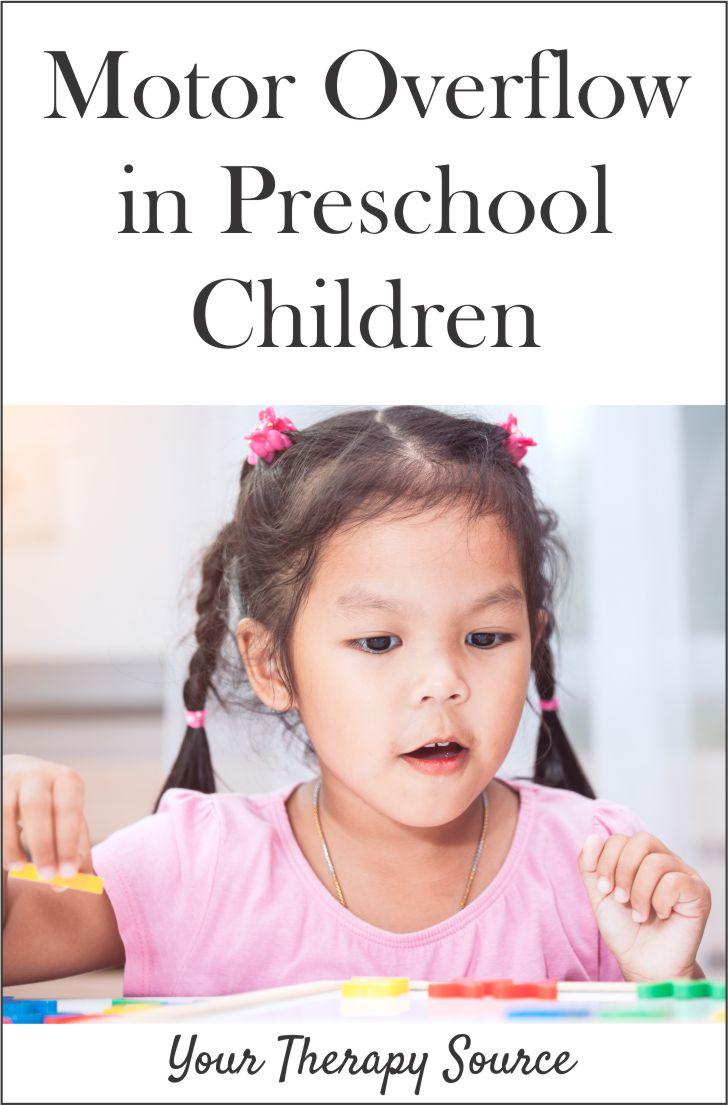 Motor Overflow in Preschool Children