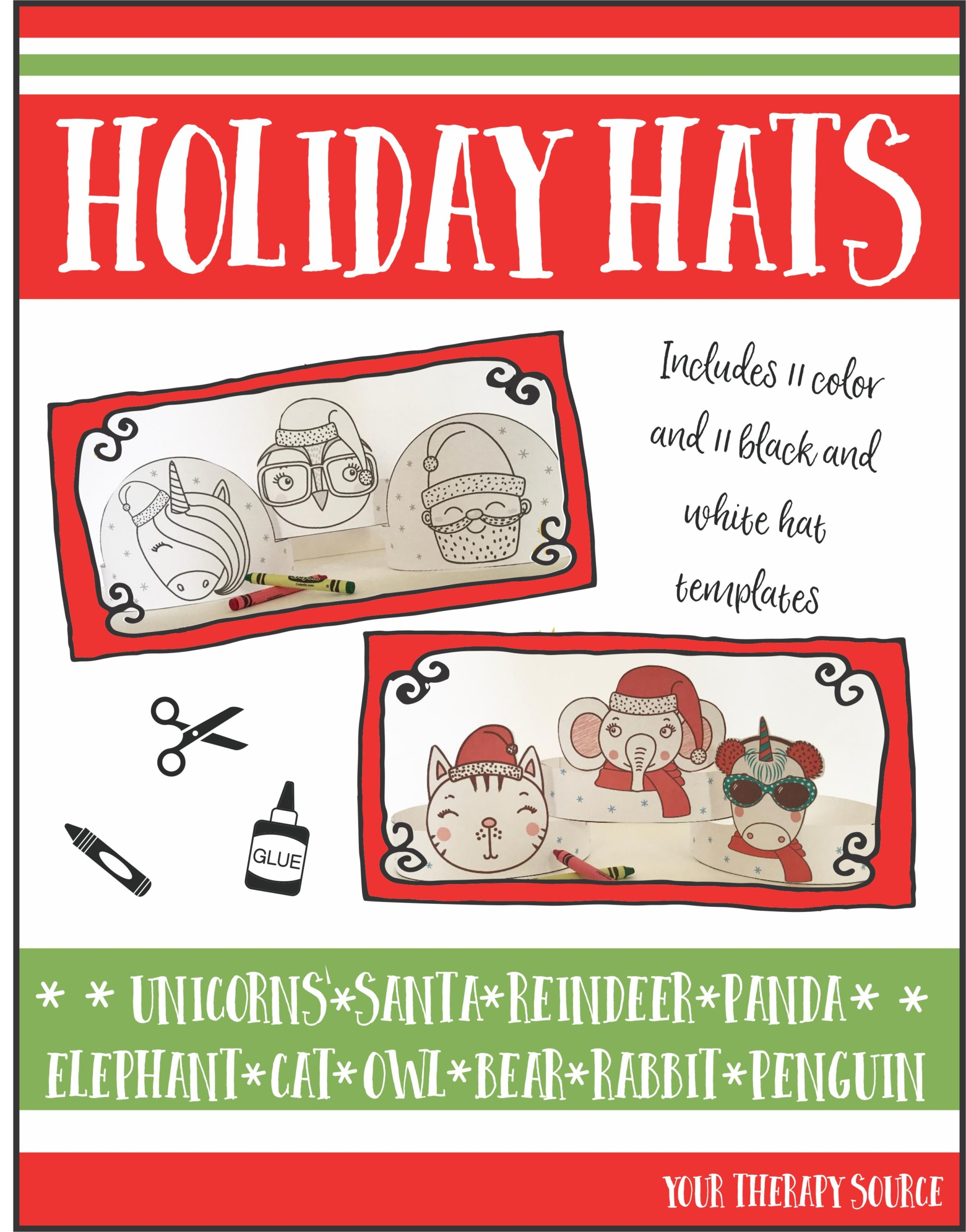 Holiday Hats from Your Therapy Source