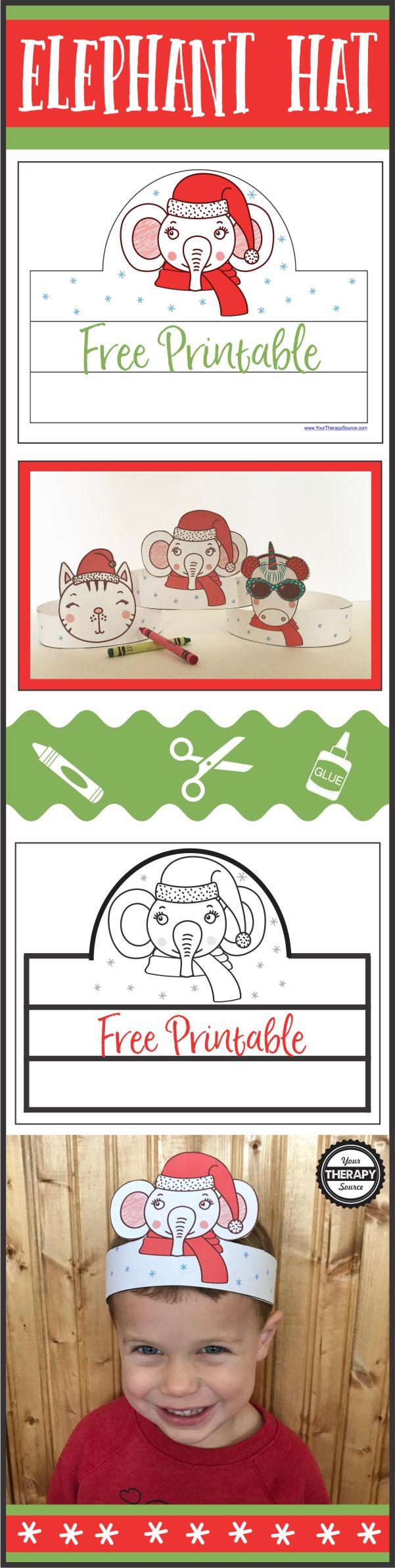 Elephant Holiday Hat