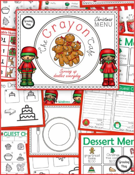 Christmas Cafe - Pretend Play + Drawing = FUN!