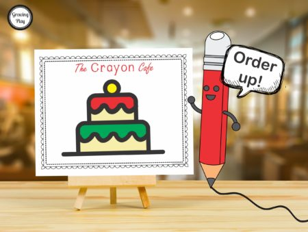 Christmas Cafe - Pretend Play + Drawing = FUN!