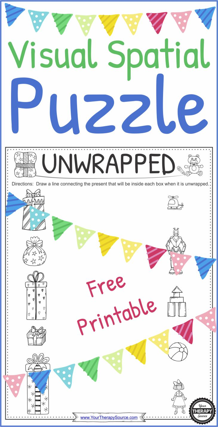 Unwrapped - Free Holiday Visual Spatial Puzzle