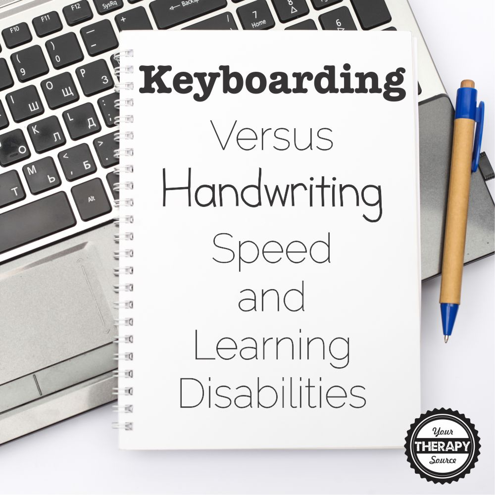 Keyboarding versus Handwriting Speed and Learning Disabilities