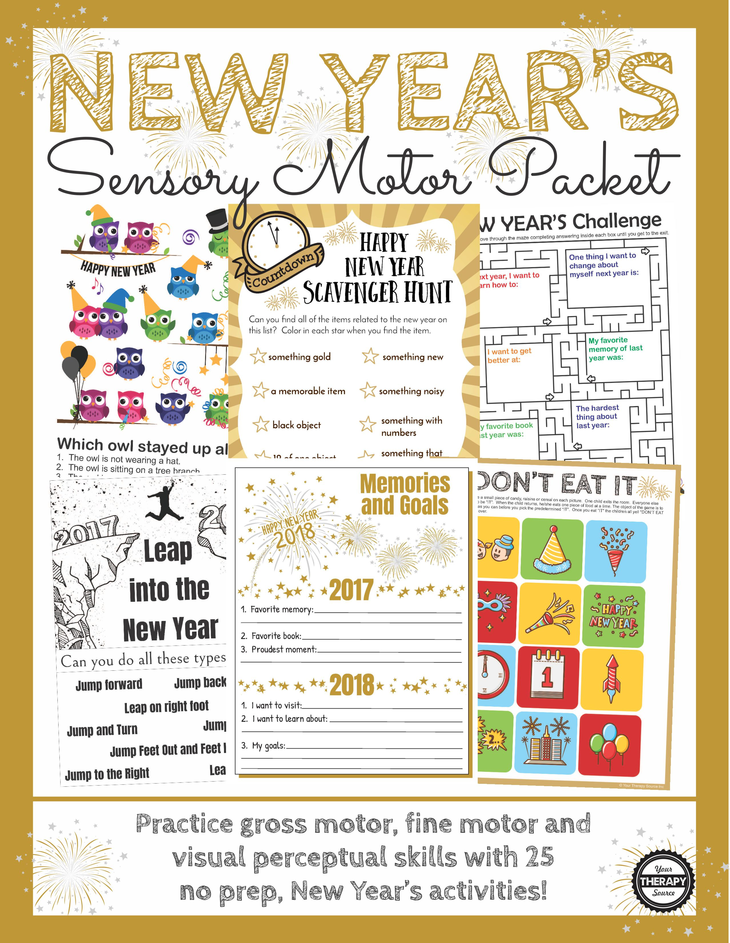 New Year's Sensory Motor
