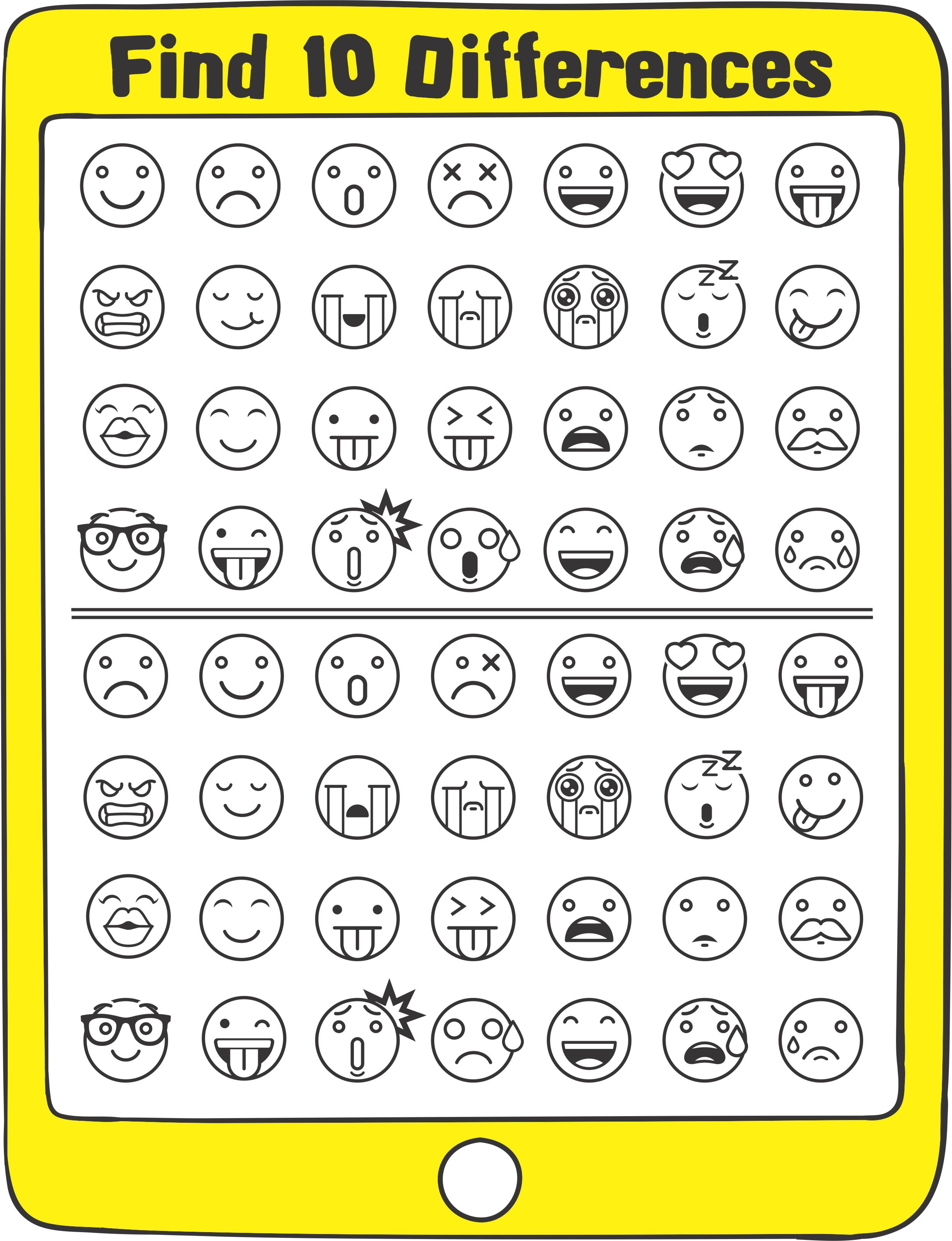 Emoji Sensory Motor Packet - free visual perceptual activity