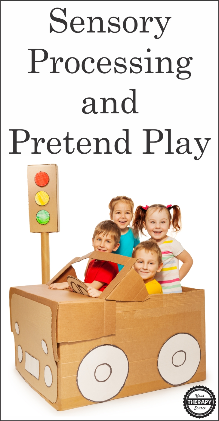 Sensory Processing and Pretend Play - The results of the assessment regarding the relationship between sensory processing and pretend play indicated the following:  significant relationships between elaborate pretend play and body awareness, balance, and touch.  Read more on the blog.