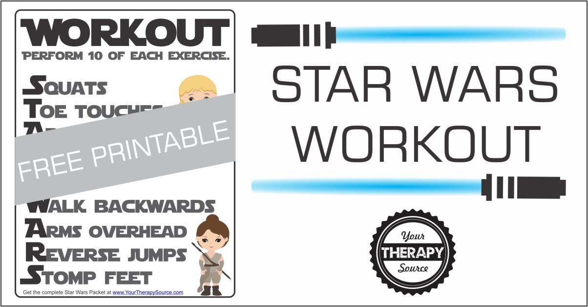 Star Wars Brain Break Workout